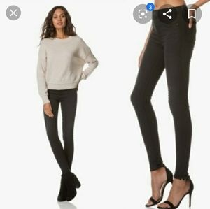 Rag & Bone high rise denim leggings jeans dark 25